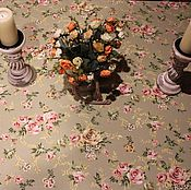 Для дома и интерьера ручной работы. Ярмарка Мастеров - ручная работа Скатерть хлопковая  Шебби Розы. Handmade.