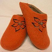 """Обувь ручной работы. Ярмарка Мастеров - ручная работа Валяные тапочки """"Flame"""". Handmade."""