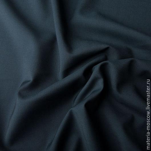 Шитье ручной работы. Ярмарка Мастеров - ручная работа. Купить Костюмная ткань (т.синий). Handmade. Тёмно-синий