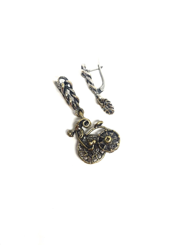 Led earrings-joke. Author Anna Black hardware silver, Earrings, Moscow,  Фото №1