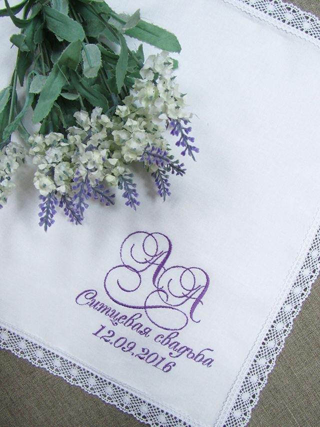 Вышивка на платочках ситцевая свадьба