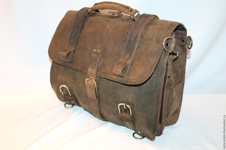 Кожаные портфель своими руками