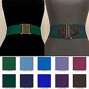 Аксессуары handmade. Livemaster - original item Belt-gum Green № 16, Dark Emerald № 21, price for H - 50mm. Handmade.