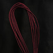 Украшения handmade. Livemaster - original item Gaitan silk cord Marsala Marsala without lock 60 cm. Handmade.
