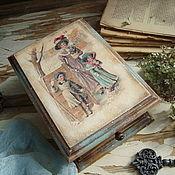 """Подарки к праздникам ручной работы. Ярмарка Мастеров - ручная работа """"Прятки"""" шкатулка. Handmade."""