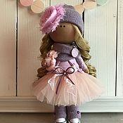 Куклы и игрушки ручной работы. Ярмарка Мастеров - ручная работа Интерьерная текстильная кукла большеножка Аленка. Handmade.