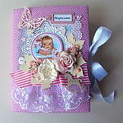 Подарки к праздникам ручной работы. Ярмарка Мастеров - ручная работа Мамин дневник-альбом для девочки. Handmade.