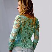 "Одежда handmade. Livemaster - original item Pullover ""Sky-blue"". Handmade."