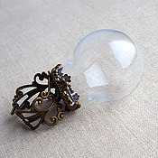 Основа для кольца с куполом (диаметр стеклянного шара 2,5 см)