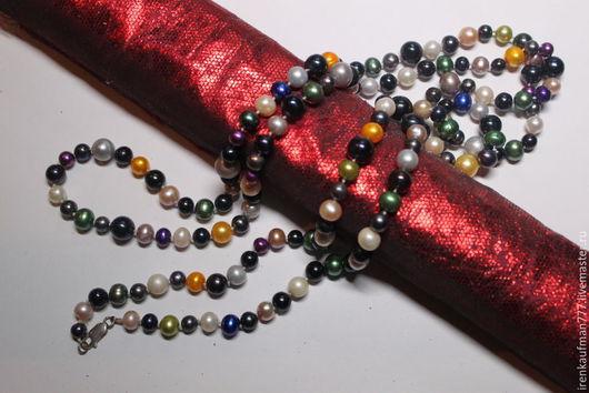 Колье, бусы ручной работы. Ярмарка Мастеров - ручная работа. Купить Ожерелье из натурального морского жемчуга handmade. Жемчуг Южных морей. Handmade.