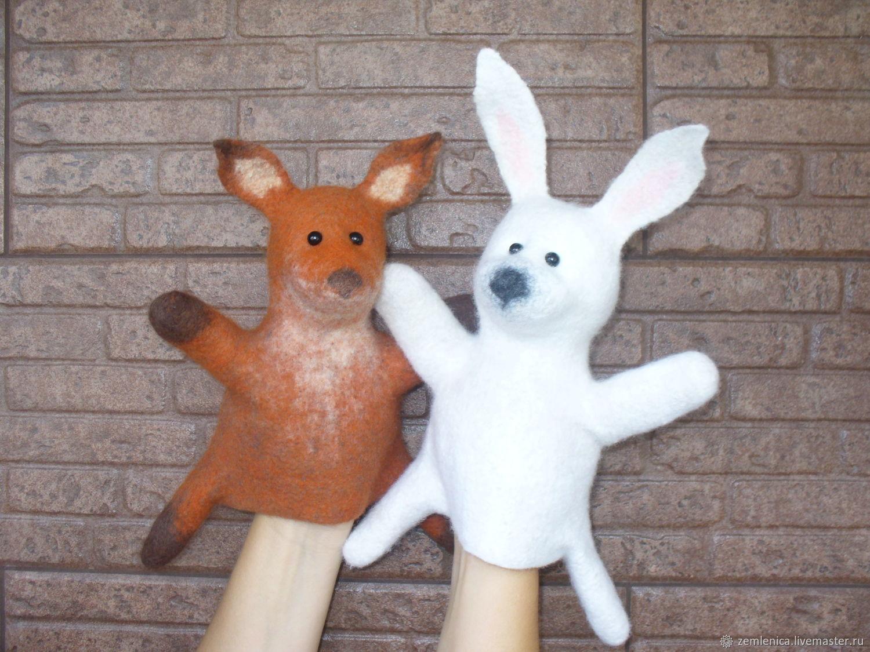 """Кукла на руку """"Лисенок"""" """"Зайчонок"""", Мягкие игрушки, Омск,  Фото №1"""