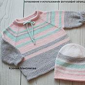 Одежда handmade. Livemaster - original item Jumpers: Striped jumper size 92. Handmade.