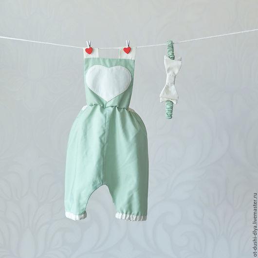 Для новорожденных, ручной работы. Ярмарка Мастеров - ручная работа. Купить Комплект для фотосессии (12). Handmade. Нежно зеленый