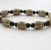 Украшения handmade. Livemaster - original item Bracelet made of lava and bronze. Handmade.