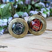 """Медальон ручной работы. Ярмарка Мастеров - ручная работа Кулон медальон """"Гарри Поттер"""" Гриффиндор Слизерин. Handmade."""