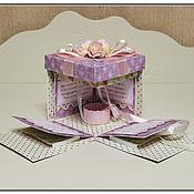 Подарки к праздникам ручной работы. Ярмарка Мастеров - ручная работа Подарок с шоколадом и живыми цветами. Handmade.