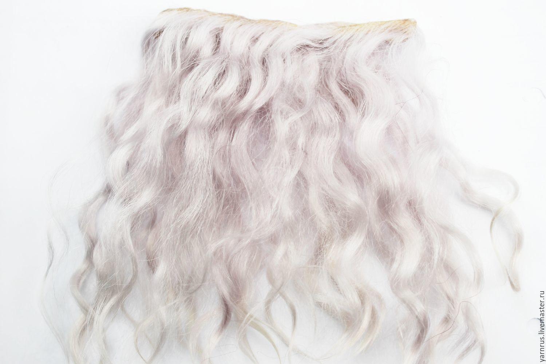 Hair pieces for dolls mohair Angora goats, Doll hair, Cherkessk,  Фото №1