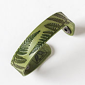 Украшения handmade. Livemaster - original item Light Olive Green Leather Bracelet for Women Girls. Handmade.
