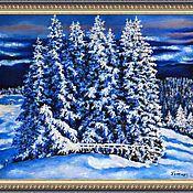 """Картины и панно ручной работы. Ярмарка Мастеров - ручная работа Картина """"Зимний лес"""" Авторская работа. Пейзаж.. Handmade."""