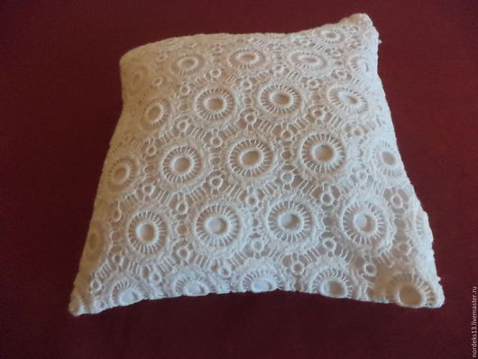 Винтажные предметы интерьера. Ярмарка Мастеров - ручная работа. Купить маленькая подушечка из ирландского кружева. Handmade. Кремовый, хлопок