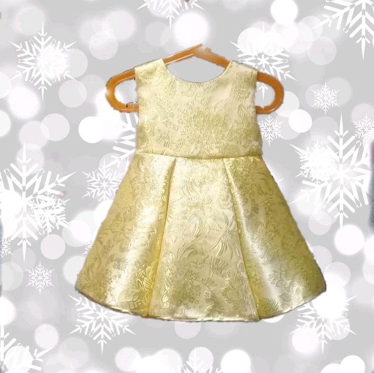 Нарядное авторское платье из золотой парчи Принцесса, Платья, Москва,  Фото №1