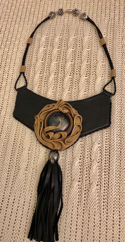 Necklace LANGUID EVENING (Leather), Necklace, Kaluga,  Фото №1