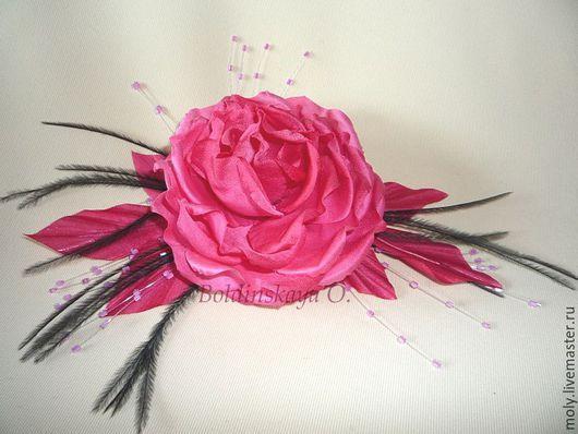 Броши ручной работы. Ярмарка Мастеров - ручная работа. Купить роза. Handmade. Розовый, цветы ручной работы, украшение для невесты