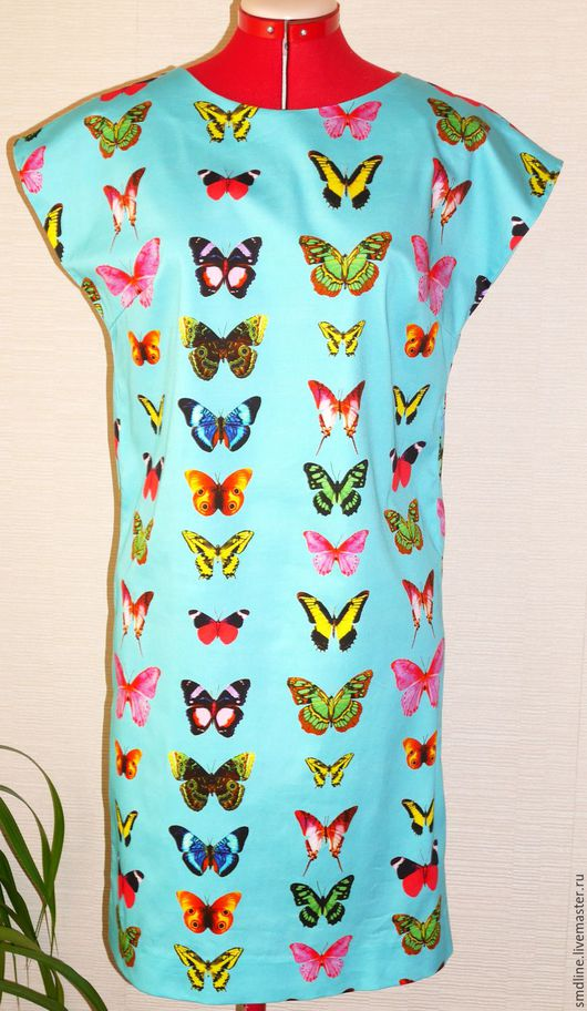 Платья ручной работы. Ярмарка Мастеров - ручная работа. Купить Платье летнее с бабочками. Handmade. Комбинированный, итальянская ткань
