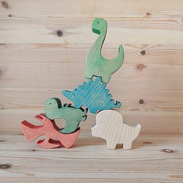 Куклы и игрушки ручной работы. Ярмарка Мастеров - ручная работа Балансир динозавры. Handmade.