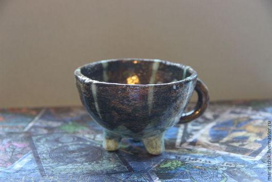 Кружки и чашки ручной работы. Ярмарка Мастеров - ручная работа. Купить Чашка на ножках. Handmade. Чашка из глины, керамическая посуда