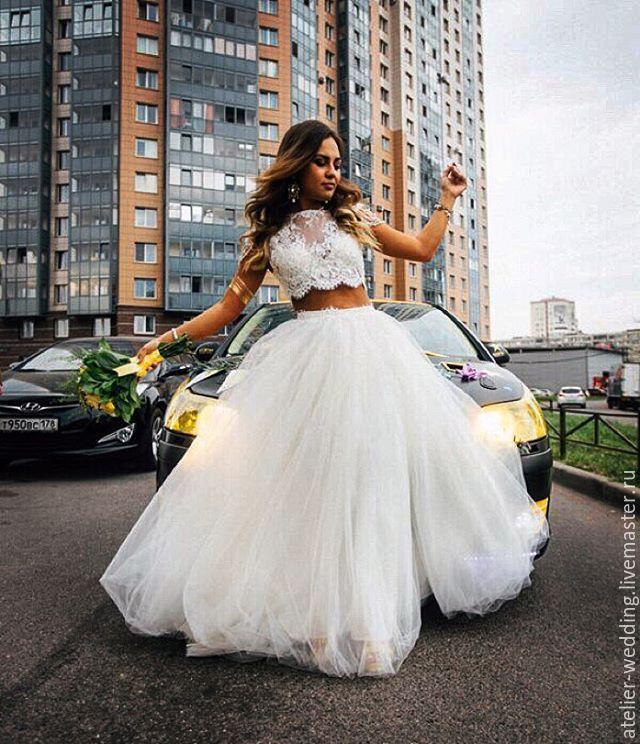 Кроп топ свадебные платья купить в