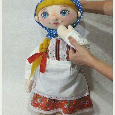 Куклы и игрушки ручной работы. Ярмарка Мастеров - ручная работа Кукольный театр. Планшетная кукла Машенька. Handmade.