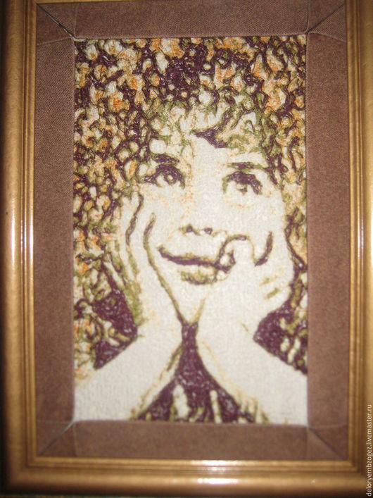 Люди, ручной работы. Ярмарка Мастеров - ручная работа. Купить Портрет вышитый. Handmade. Комбинированный, портрет, компьютерная вышивка, вышивка