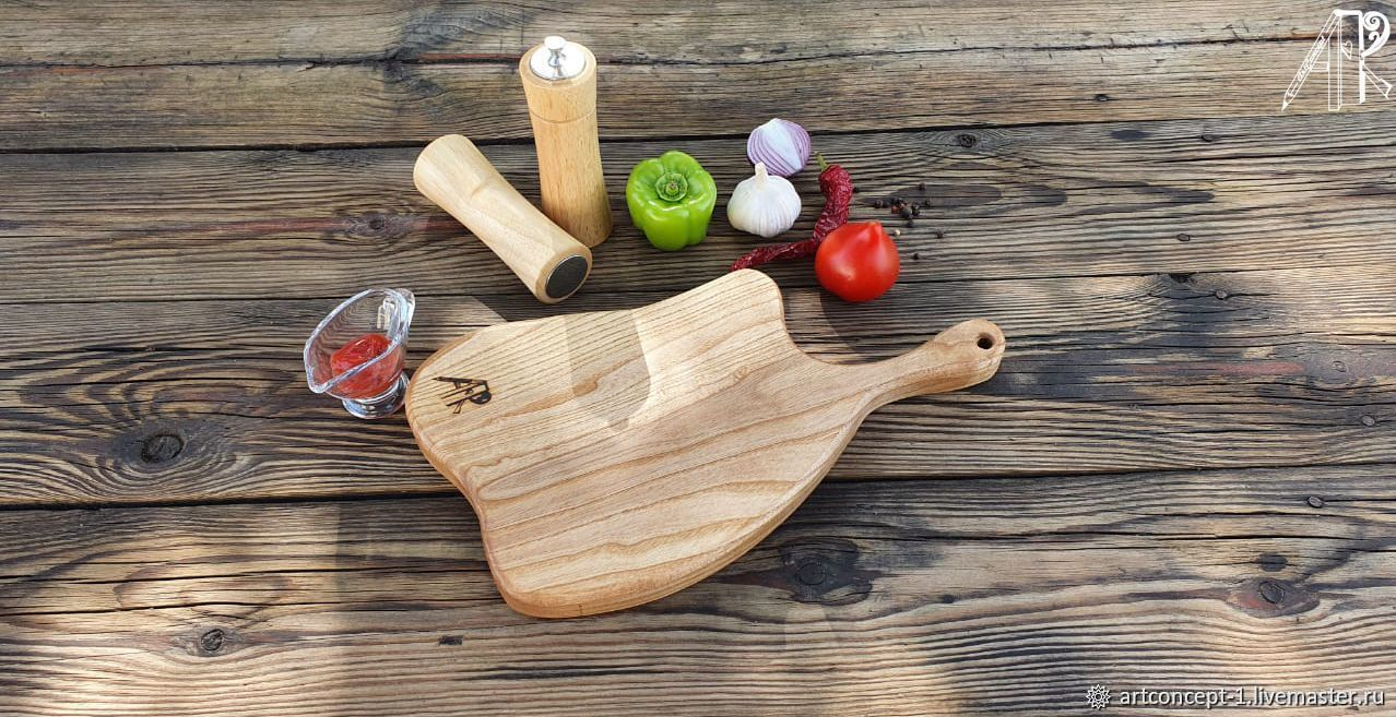 Cutting Board for serving steak and grill made of solid ash, Cutting Boards, Ryazan,  Фото №1