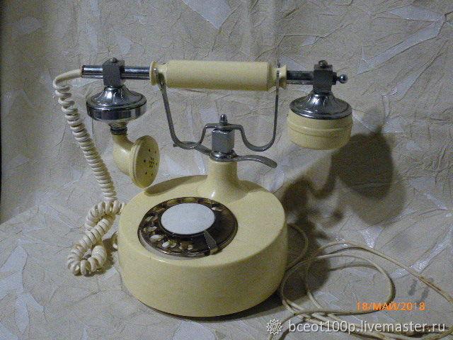 Винтаж: Ретро-телефон! 1977 год, цена 120руб, знак качества СССР, на экспорт, Винтажные предметы интерьера, Сухой Лог, Фото №1