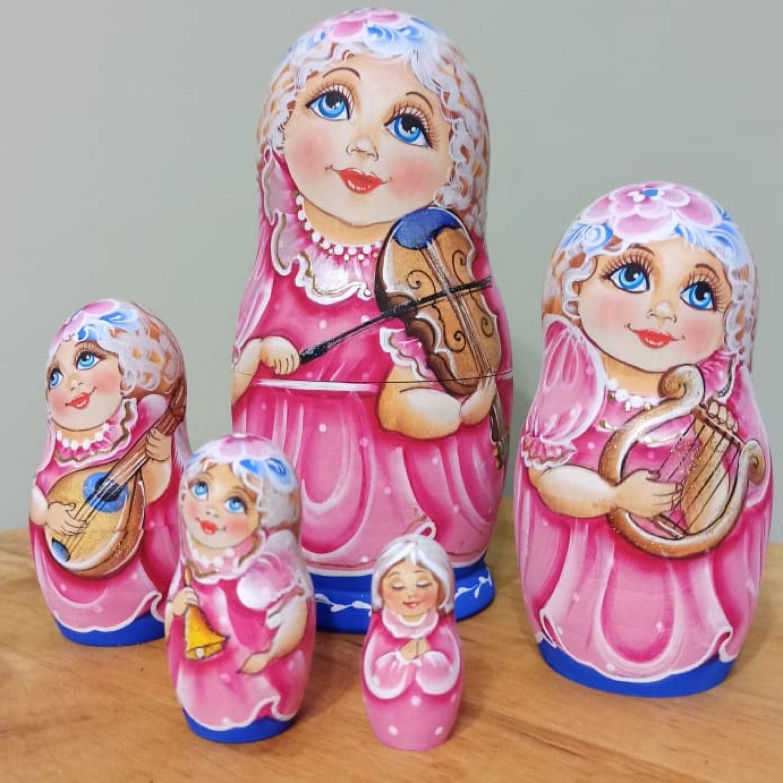 Девочки- ангелы. 5м 17см, Матрешки, Шатура,  Фото №1