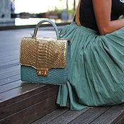 Сумки и аксессуары handmade. Livemaster - original item Python skin bag Gold Dreams. Handmade.
