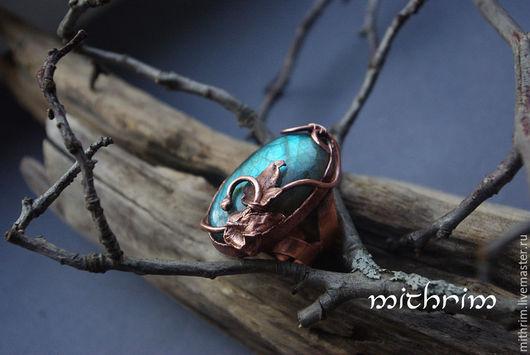 """Кольца ручной работы. Ярмарка Мастеров - ручная работа. Купить Кольцо """"Память о весне"""". Handmade. Синий, большое кольцо"""