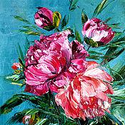 Картины и панно handmade. Livemaster - original item Oil painting Peony. Handmade.
