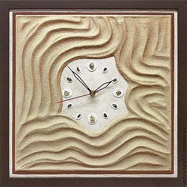 """Для дома и интерьера ручной работы. Ярмарка Мастеров - ручная работа """"БАРХАНЫ"""" из песка авторские часы. Handmade."""