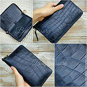 Сумки и аксессуары handmade. Livemaster - original item Wallet alligator skin and genuine leather. Handmade.
