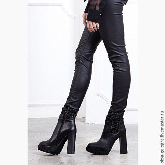 Обувь ручной работы. Ярмарка Мастеров - ручная работа. Купить Ботинки женские. Handmade. Черный, ботинки из кожи, обувь для улицы