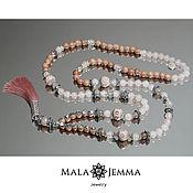 Necklace handmade. Livemaster - original item Beads Tea rose made from natural rose wood. Handmade.