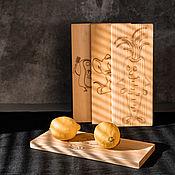 Посуда handmade. Livemaster - original item Cutting boards made of Siberian cedar with engraving 4 pcs. RDN21. Handmade.