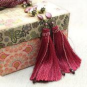 Украшения handmade. Livemaster - original item Cherry Lariat tassel beaded harness. Handmade.