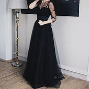 Одежда ручной работы. Ярмарка Мастеров - ручная работа Вечернее платье из фатина в пол. Handmade.