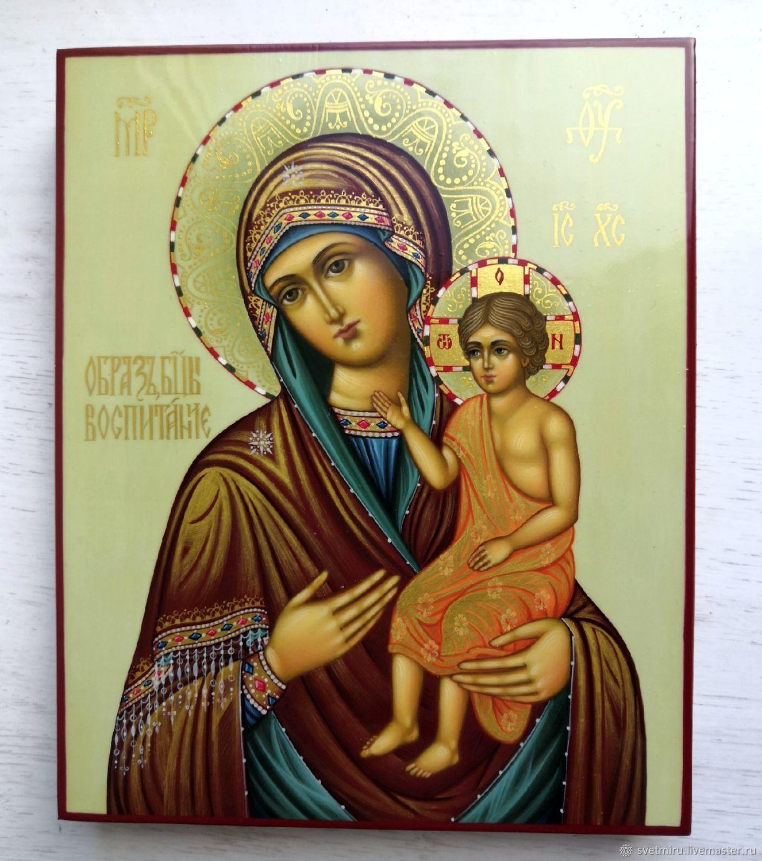 Воспитание.Рукописная икона Богородицы, Иконы, Санкт-Петербург,  Фото №1