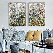 Картины и панно handmade. Livemaster - original item Painting in the style of abstraction Jackson Pollock. Handmade.
