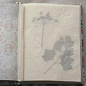 Канцелярские товары handmade. Livemaster - original item Album for southern garden herbarium (A4, 40 plants). Handmade.