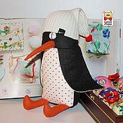 Куклы и игрушки ручной работы. Ярмарка Мастеров - ручная работа Пингвин игрушка текстильная интерьерная для детей. Handmade.